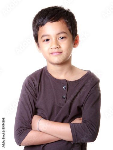 Asian boy with smiling face