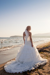 Bride at the beach
