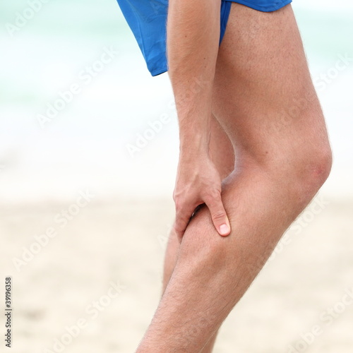 Leg calf sport muscle injury