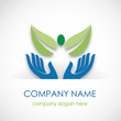 Logo the green friendship # Vector