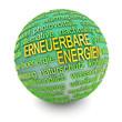 Erneuerbare Energien - Kugel grün