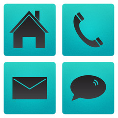 home telephone email and chat icon