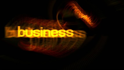 Business words in abstract motion
