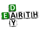 3D Earth Day text Crossword poster