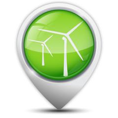 Symbole glossy vectoriel Parc éolien