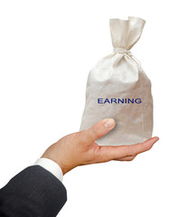 Bag with earning