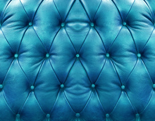 Blue upholstery leather