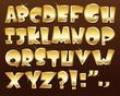 Gold alphabet