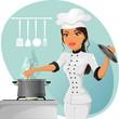 Chef donna-Woman chef