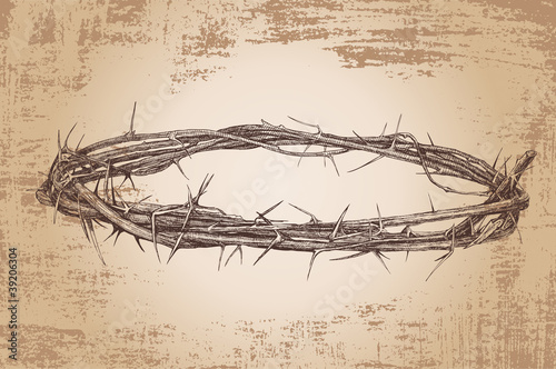crown of thorns vintage Vector illustration
