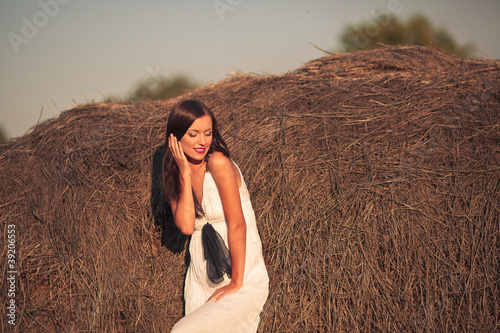 woman in countryside