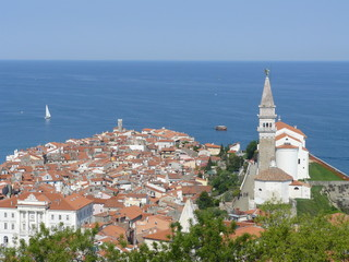 The city Piran in Slovenia