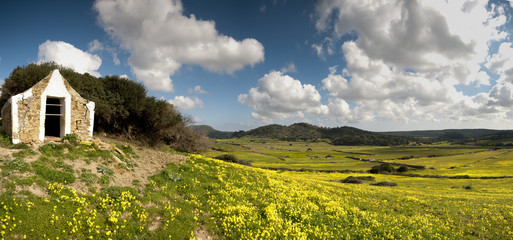 campos de Menorca panoramica