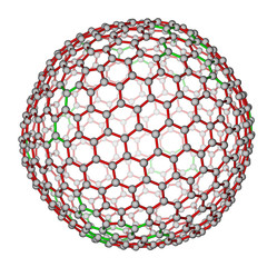 Nanocluster fullerene C540 molecular structure