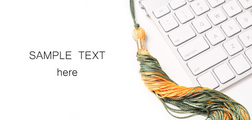 Getting Your Degree online concept with Space for Text