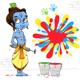 Krishna Playing Holi