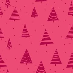 Stylish bright Christmas seamless pattern