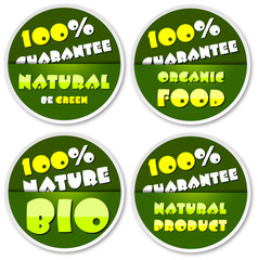 Natural stickers