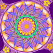 Mandala sacred circle in shades of purple
