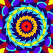Geometric colorful mandala, sacred circle