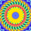 Kaleidoscopic spinning  sacred circle mandala