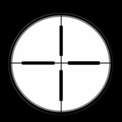 sniper sight isolated on black background,  illustration