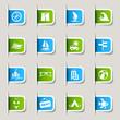 Detaily fotografie label - rekreační ikony