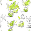 Seamless pattern with celery