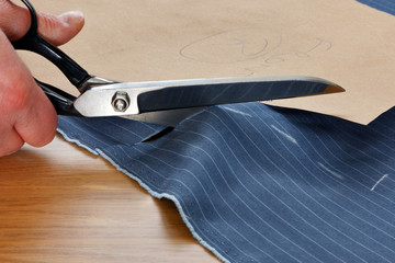 Cutting fabric for a suit