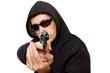 man with gun, gangster