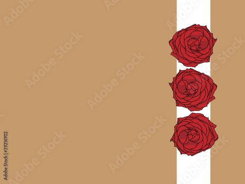 A greeting card with tree roses