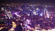 shanghai at night. time lapse