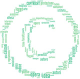 Simbolo di Copyright - tag cloud
