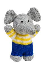 Handmade knit toy, elephant