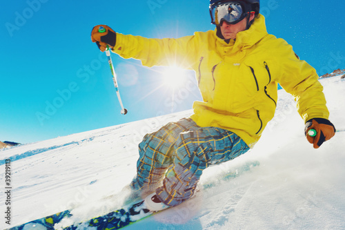 Skier on the Mountain