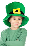 Child with green hat