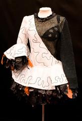 Diseño de moda en blanco y negro