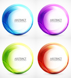 Fototapety Swirl symbol, icon, background set