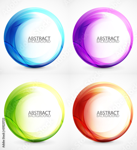 Swirl symbol, icon, background set