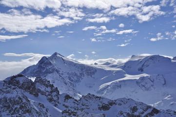 snow mountain in titlis