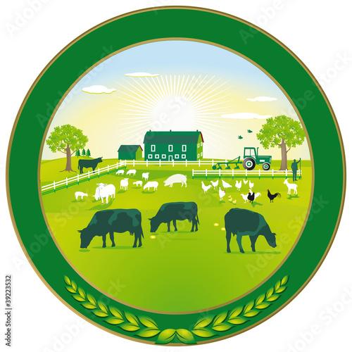 Grüne Landwirtschaft Plakette