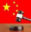 Gavel  and Flag of China