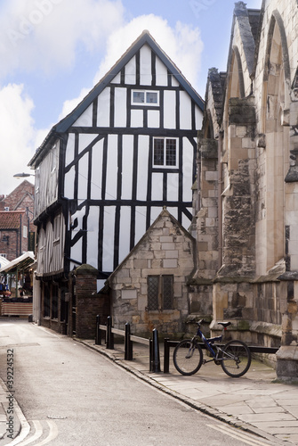 Medieval Buildings in Shambles In York England