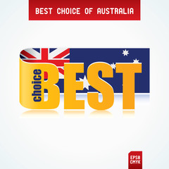 Best Choice Tag with Australian flag