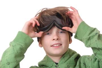 Junge mit Skibrille
