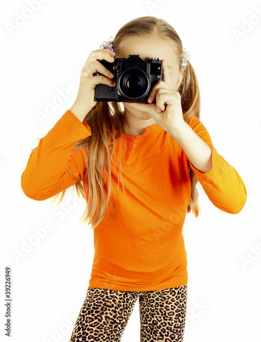 a happy little girl photographs