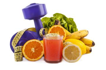 concepto de dieta sana de fruta