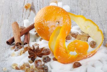 Sugar, spices and orange