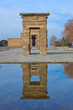 entrance in temple Debod, Madrid, Spain