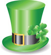 Irish hat replicon with three clover trefoils